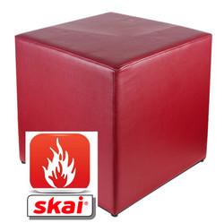 Sitzwürfel bordeaux B1 schwer entflammbar 35 cm x 35 cm 45 cm
