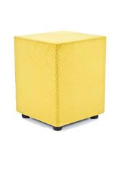 Cubes Hocker Sitzhocker Sitzwuerfel Mikrofaser gelb