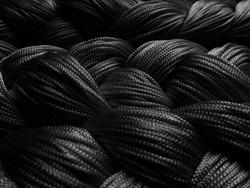 Fadenstore 150 cm x 300 cm (BxH) in schwarz
