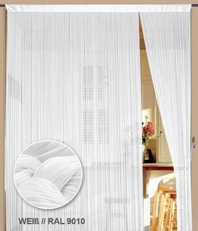 Fadenvorhang 150 cm x 500 cm (BxH) weiß