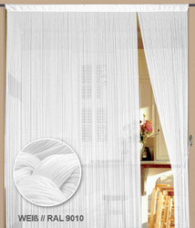 Dieser Fadenvorhang von der Marke Kaikoon der Grösse 500 cm x 200 cm in weiß ist super geeignet auch als Raumteiler