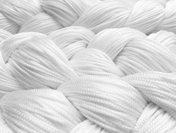 Fadenstore 200 cm x 200 cm (BxH) in weiß