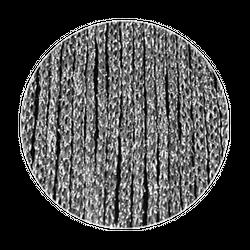 Fadenstore 090 cm x 240 cm (BxH) silber glänzend