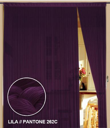 Fadenvorhang 90 cm x 240 cm (BxH) lila