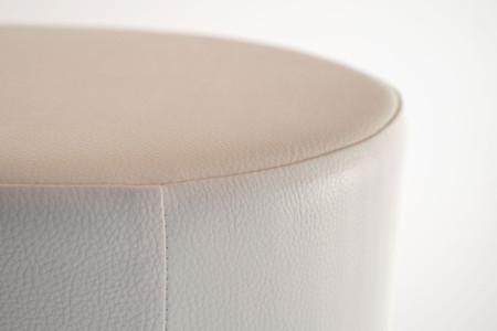 Sitzhocker weiß Ø34 cm x 60 cm