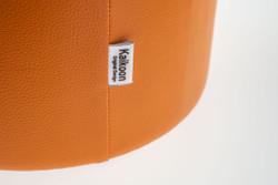 Cubes Hocker Sitzhocker Sitzwuerfel Kunsleder Orange