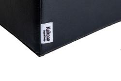 Sitzwürfel Kunstleder Schwarz Maße: 35  cm x 35 cm x 42 cm