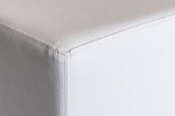 Sitzwürfel Kunstleder Weiß Maße: 35  cm x 35 cm x 42 cm