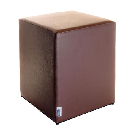 Sitzwürfel Braun Maße: 35 cm x 35 cm x 42 cm