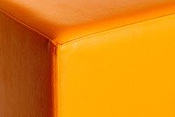 Cubes Hocker Sitzhocker Sitzwuerfel 43 cm x 43 cm x 48 cm  Kunstleder Orange