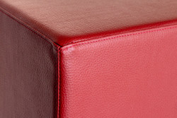 Cubes Hocker Sitzhocker Sitzwuerfel 43 cm x 43 cm x 48 cm  Kunstleder Bordeaux