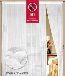 Dieser Fadenvorhang von der Marke Kaikoon der Grösse 150 cm x 250 cm in weiß  ist super geeignet für Ihr Zuhause B1 schwer entflammbar