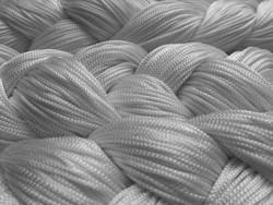 Fadenstore 150 cm x 300 cm (BxH) in silber