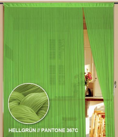 Fadenvorhang 90 cm x 240 cm (BxH) hellgrün