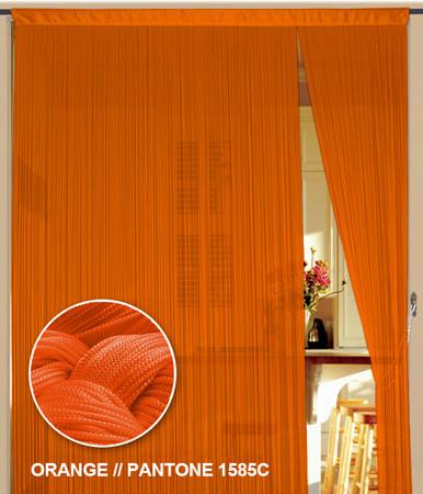 Fadenvorhang 150 cm x 300 cm Orange (BxH)