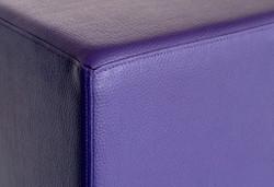 Cubes Hocker Sitzhocker Sitzwuerfel 43 cm x 43 cm x 48 cm  Kunstleder Lila