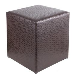 Sitzwürfel Krokodilleder Imitat-Dunkelbraun Maße: 35 cm x 35 cm x 42 cm