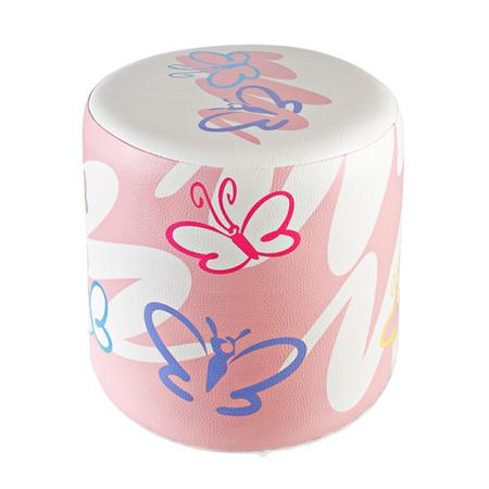 Sitzhocker Schmetterling Kinderzimmer rosa Ø34x34cm