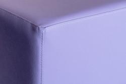 Sitzwürfel Kunstleder Flieder Maße: 35  cm x 35 cm x 42 cm