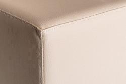 Cubes Hocker Sitzhocker Sitzwuerfel Creme 35 cm x 35 cm x  42 cm