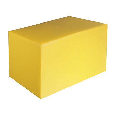 Sitzbank gelb Maße: 70 cm x 35 cm x 42 cm
