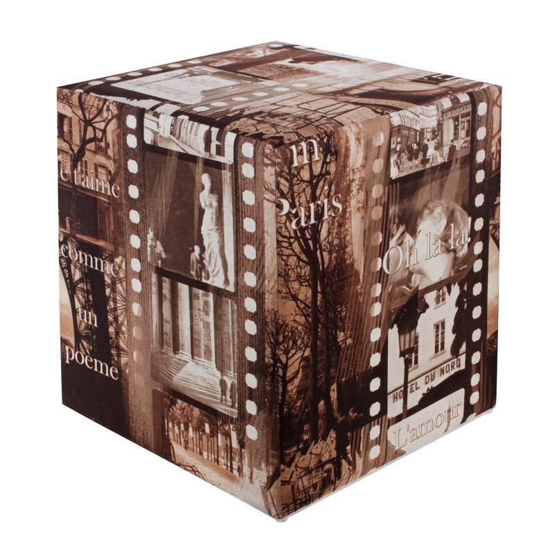 Sitzwürfel Sitzhocker Hocker Würfel Cubes Messe 35 cm x 35 cm x 42 cm hellgrau