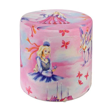 Sitzhocker bedruckt Prinzessin rosa  Ø34 x 34 cm