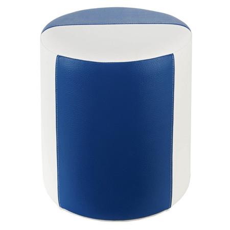 Sitzhocker 2-farbig weiß-blau Ø34 x 44cm