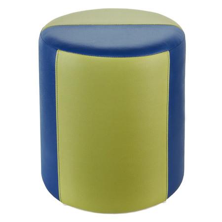 Sitzhocker 2-farbig blau-hellgrün Ø34 x 44cm