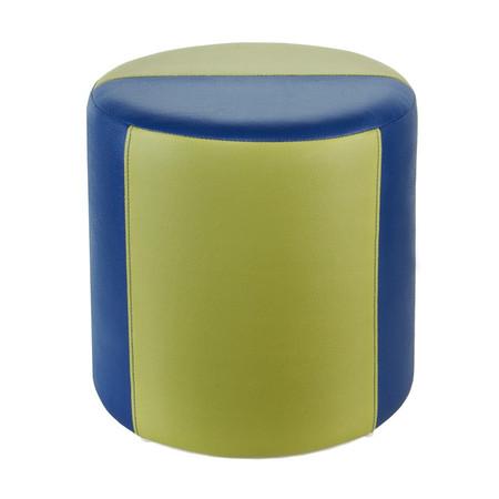 Sitzhocker 2-farbig blau-hellgrün Ø34 x 34cm