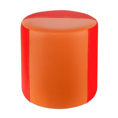 Sitzhocker 2-farbig helles orange- orange Ø34 x 34cm
