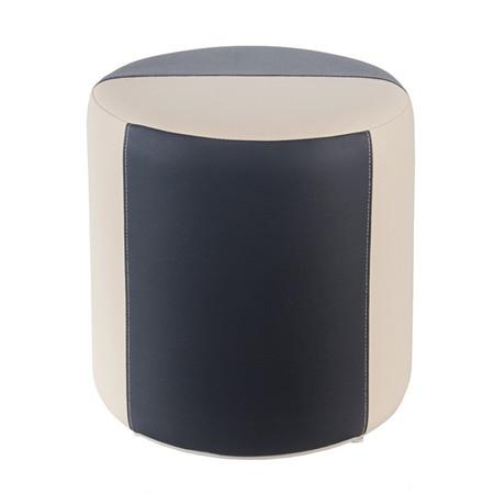 Sitzhocker 2-farbig creme-dunkelgrau Ø34 x 34cm