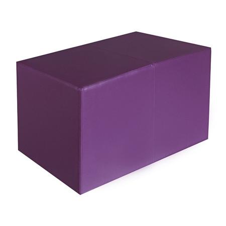 Sitzbank lila Maße: 70 cm x 35 cm x 42 cm