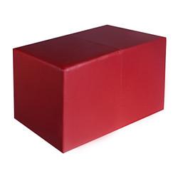 Sitzbank bordeaux Maße: 70 cm x 35 cm x 42 cm Sitzwürfel