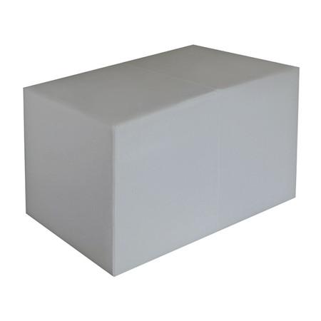 Sitzbank hellgrau Maße: 70 cm x 35 cm x 42 cm