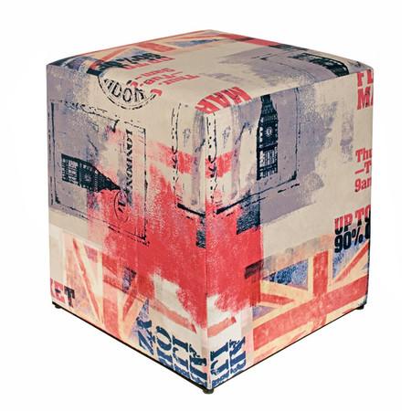 Sitzwürfel England GB Flagge hell 35 cm x 35 cm x 42 cm