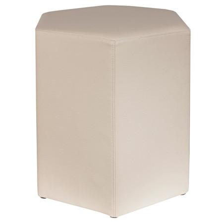Sitzhocker 6-kant creme Maße: 37 cm x 43 cm x 46 cm