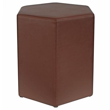Sitzhocker 6-kant braun Maße: 37 cm x 43 cm x 46 cm