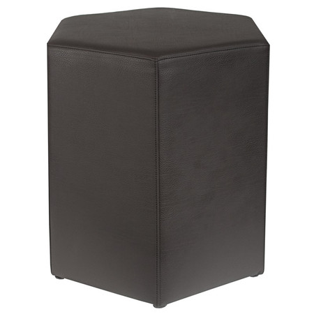 Sitzhocker 6-kant schwarz Maße: 37 cm x 43 cm x 46 cm