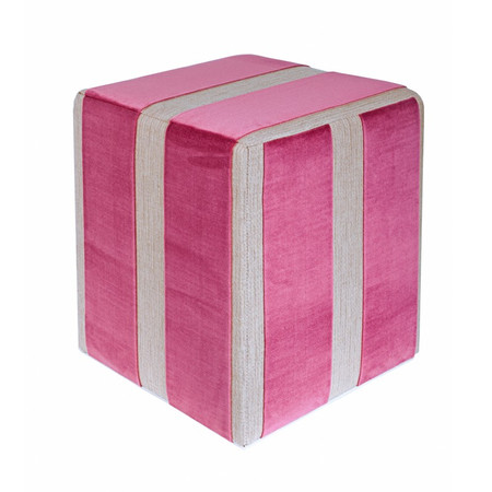 Sitzwürfel Stoff lila-creme Maße: 35 cm x 35 cm x 42 cm
