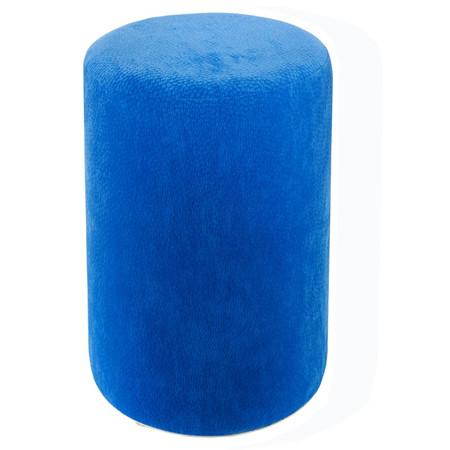 Sitzhocker Mikrofaser blau Ø 34 cm x 60 cm