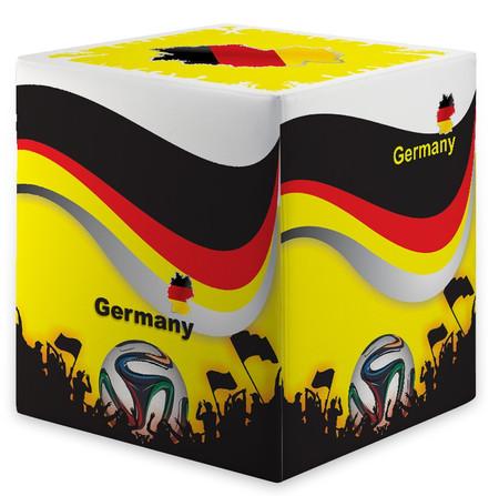 Sitzwürfel WM Deutschland Germany Maße: 35 cm x 35 cm x 42 cm