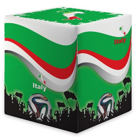 Sitzwürfel WM Italien Italy Maße: 35 cm x 35 cm x 42 cm