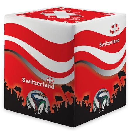 Sitzwürfel WM Schweiz Switzerland Maße: 35 cm x 35 cm x 42 cm
