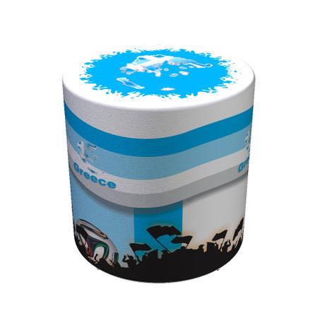 Sitzhocker WM Griechenland Greece Maße: Ø 34 cm x 44 cm