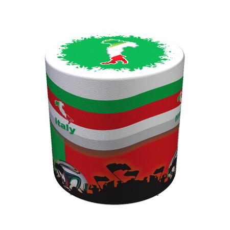 Sitzhocker WM Italien Italy Maße: Ø 34 cm x 44 cm