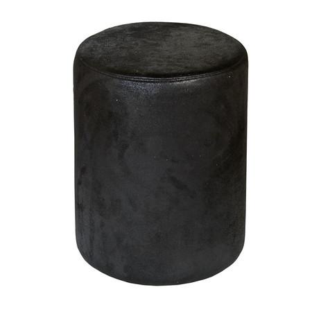 Sitzhocker schwarz Wildlederoptik exclusiv von Kaikoon