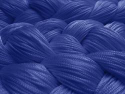 Fadenstore 090 cm x 240 cm (BxH) blau