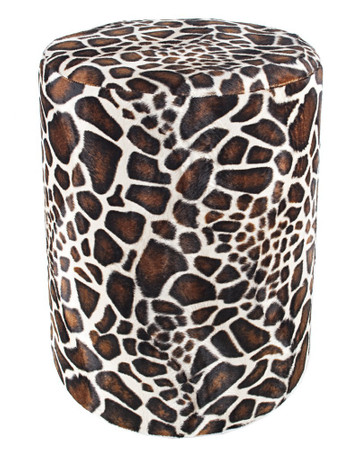 Sitzhocker Fell-Imitat Giraffe Maße Ø 34 x 60 cm