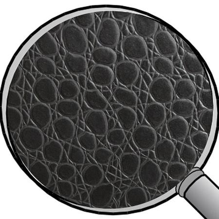 Sitzhocker Krokodilleder- Imitat schwarz Maße Ø 34 x 60 cm